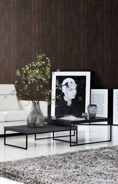 Wohnideen von BoConcept * Schlichter Einrichtungsstil fürs Wohnzimmer mit schwarzem Beistelltisch * Livingroom
