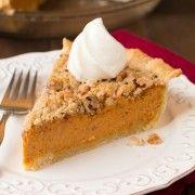 Shortcut Streusel Pumpkin Pie - Start with a frozen pumpkin pie and Gussie it up for an easy crowd pleasing dessert