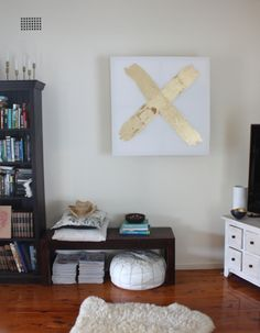 how to… hide an ugly air conditioner (behind canvas)