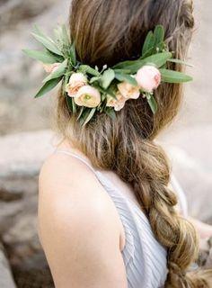 Floral wedding crown - Ashley Rae Photography