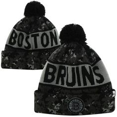 '47 Brand Boston Bruins Tigertooth Knit Hat - Gray Camo