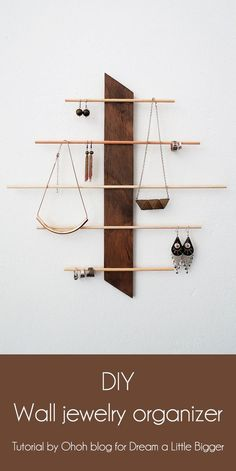 15 Cute DIY Hanging Jewelry Holders That Store Your Stuff Without Taking Up Space