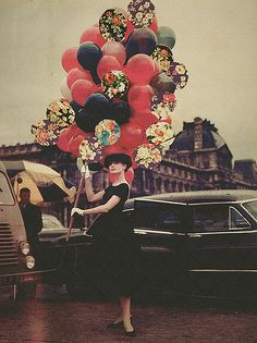 I've never seen this one before! Audrey Hepburn. <3