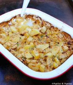 Gratin of celeriac and potatoes Celery Recipes Healthy, Soup Recipes, Vegetarian Recipes, Keto Recipes Dinner Easy, Celerie Rave, Salty Foods, Vegetable Sides, Winter Food, Macaroni And Cheese