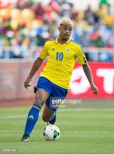 LEMINA of Gabon during the Group A match between Gabon v GuineaBissau at Stade de L'Amitie on January 14 2017 in Libreville Gabon