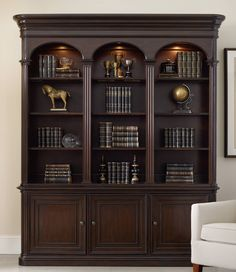 HOOKER Colonnade bookcase