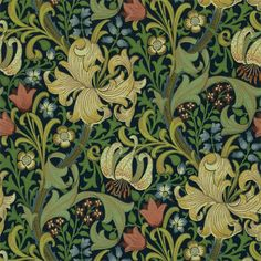 The Original Morris & Co - Arts and crafts, fabrics and wallpaper designs by William Morris & Company   Products   British/UK Fabrics and Wallpapers   Golden Lily (DMCW210429)   Morris Wallpaper Compendium II