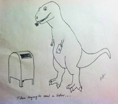 T-Rex Trying Things (14 Pics) | Pleated-Jeans.com
