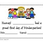This certificate has been created specifically for Kindergarten students. Simply add the child's name and your signature for a special keepsake! Th...