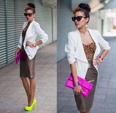 LEOPARD bralet & NEON heels (by Tamara Gonzalez Perea) http://lookbook.nu/look/3687159-LEOPARD-bralet-NEON-heels