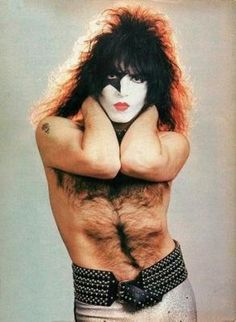 Paul Stanley of Kiss - now there's a carpet of virility if ever I saw one