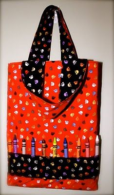 Crayon Bag Tutorial. Great Christmas gift idea for all the nieces & nephews.