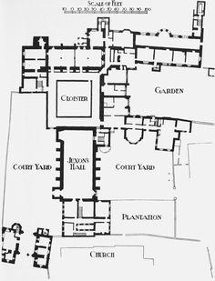 Lambeth Palace General Site Plan Of Main Buildings