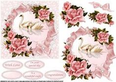 Swans And Roses Anniversary Quick Card