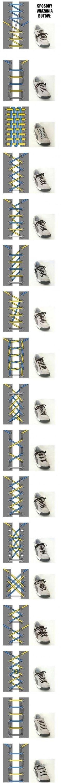Różne sposoby wiązania sznurówek butów