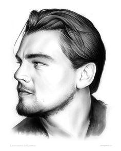 Leonardo Dicaprio Drawing by Greg Joens