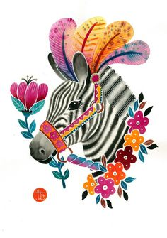 Zebra Print - A4 from My Majestic Boutique