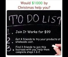 If you get $99 together then we can work. I can personally guide you to the top. So that you can go to your 9 to 5 job and retire. The earning potential is unlimited, you decide what you want to make!! #debtfree#family#friends#moneytobemade