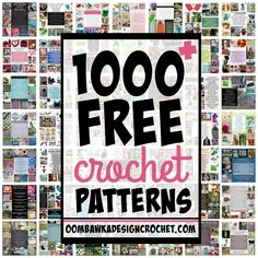 Looking for free crochet patterns? Here are1000+free crochet…