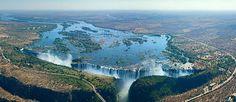 Victoria Falls, Zambia and Zimbabwe border - AirPano.com • 360° Aerial Panoramas • 3D Virtual Tours Around the World