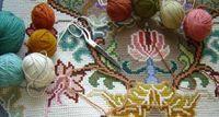 Tapeçaria bordada à mão em talagarça, você se lembra? | Revista Artesanato