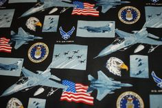 United States Air Force USA  Military by Loriscountryfabrics, $9.50