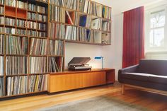 The LP collection is designed into the converted living room. Image: Scottie Cameron