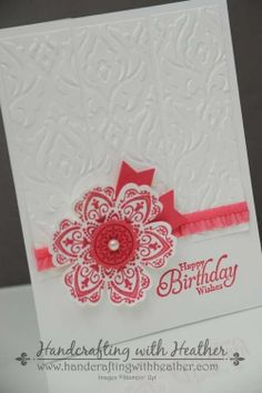 Stampin' Up! Birthday Card by Heather VL: Beautifully Baroque and Mixed Bunch