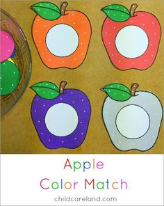 Apple color match for color recognition skills.