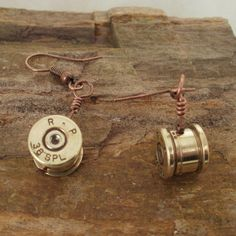Bullet Earrings - MAN I wish i knew how to make Jewlery! How cool are these?!?