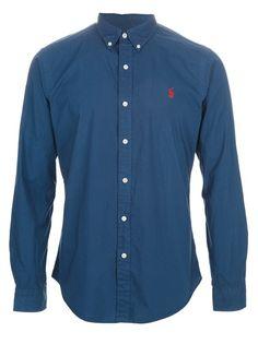 POLO RALPH LAUREN Camisa Azul. Ralph Laurent, Polo Ralph Lauren, Chef Jackets, Husband, Classic, Dresser, Shirts, Clothes, Shopping