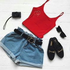 Elegant ready-to-wear outfits for girls Cute Summer Outfits, Cute Casual Outfits, Short Outfits, Spring Outfits, Casual Summer, Summer Dresses, Teen Fashion Outfits, Cute Fashion, Casual Teen Fashion