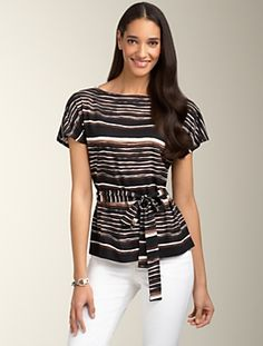 Exotic Stripe Top