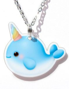 Kawaii Acrylic Narwhal Necklace