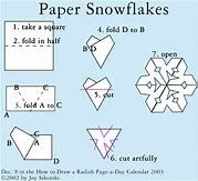how to make a snowflake out of paper için resim sonucu
