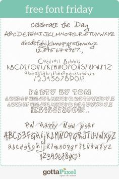Free Font Friday #78 - Gotta Pixel  ~~ {4 free fonts w/ links}