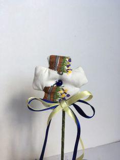Vaso di  vetro con fiore di stoffa profumato, vasetto con fiore di tessuto, fiore con lavanda, by L' Atelier di Trame Preziose, 7,20 € su misshobby.com Lavender, Atelier, Fabrics