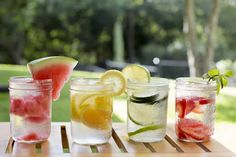 3 Fruit Infused Detox Water Recipes from @BlenderBabes