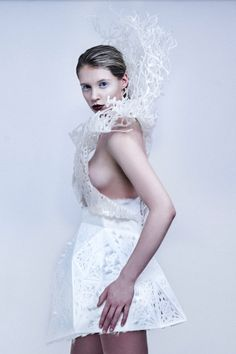 Francis Bitontis 3D Printed Dress You Can Print at Home in technology style fashion  Category