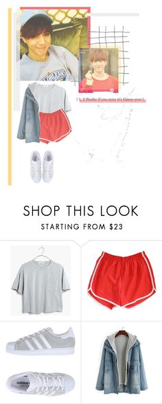 """Kim Yugyeom // GOT7"" by rebekahsalvadore ❤ liked on Polyvore featuring Madewell, Retrò and adidas Originals"