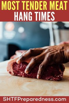 Most Tender Meat Hang Times Meat Butcher, Backyard Farmer, Ground Venison, Long Term Food Storage, Smoking Meat, Tender Meat, Frugal, Just In Case, Prepping