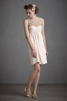 neutral bridesmaid dress