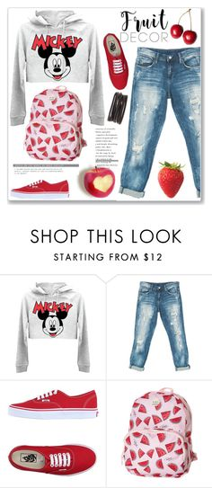 """""""Fruit Decor"""" by lamiya-c ❤ liked on Polyvore featuring Sans Souci, Vans, Roxy and Isabel Marant"""