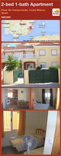 2-bed 1-bath Apartment in Pinar De Campoverde, Costa Blanca, Spain ►€69,000 #PropertyForSaleInSpain