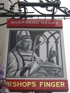 Bishops Finger Pub Sign, Canterbury b Pub Signs, Name Signs, Shop Signs, Bishops Finger, Uk Pub, British Beer, Local Pubs, Pub Crawl, Pub Bar