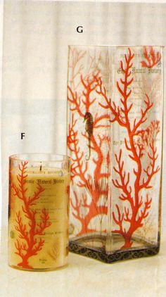 coral glass votives Accent Pieces, Coral, Curtains, Shower, Glass, Prints, Decor, Rain Shower Heads, Blinds