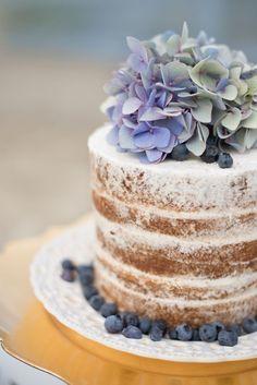 cake + berries