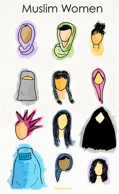 image highlighting the diversity of Muslim women I just love this! I grew up with many Muslim friends and I know work with some of the most beautiful Muslim families. Americans need to realize the truth that not all Muslims are extremists or terrorists Half The Sky, Islam Women, Gender Studies, Who Runs The World, Intersectional Feminism, Anti Racism, Body Shaming, Genre, Social Justice