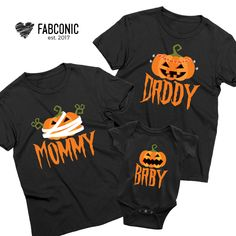 Baby First Halloween, Halloween Onesie, Disney Halloween, Halloween Birthday, Halloween Christmas, Halloween 2020, Matching Family T Shirts, Family Shirts, Family Pjs
