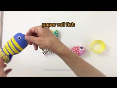 Paper roll fish recycling craft | The Craft Train